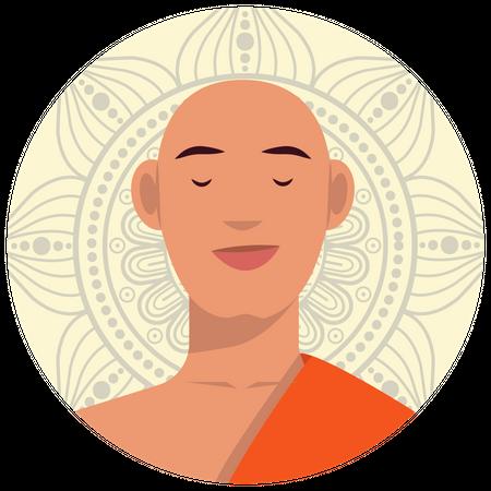 Buddhist-monk Illustration