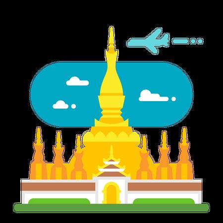 Buddhist stupa Illustration