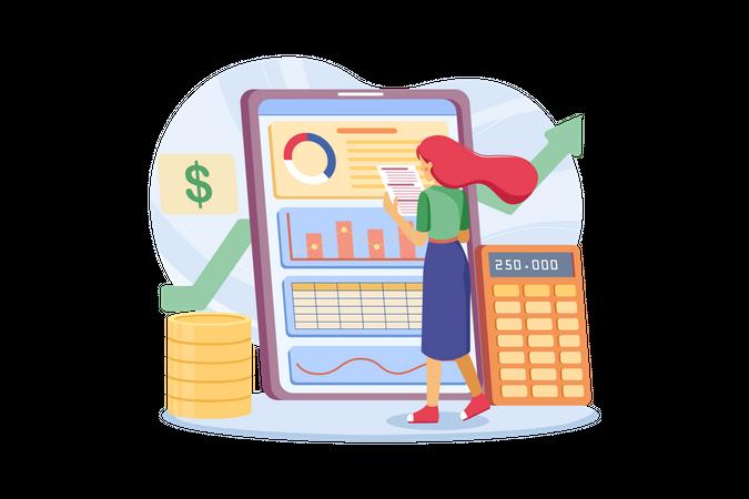 Budget calculation Illustration