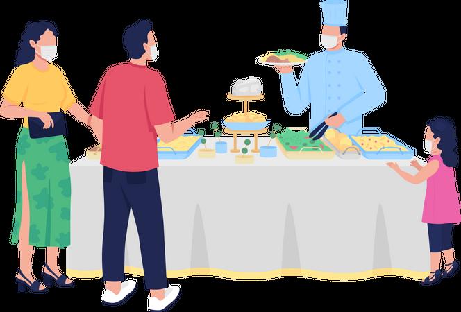 Buffet-style reception Illustration