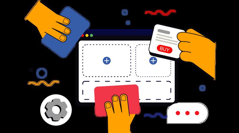Build an Online Store Illustration