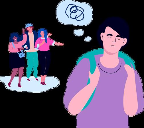 Bullying employee Illustration