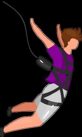 Bungee jumping Illustration