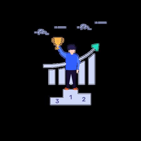 Business Achievement Illustration