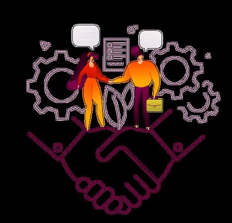 Business agreement Illustration