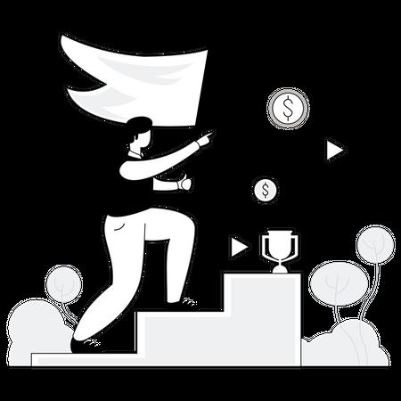 Business aim Illustration