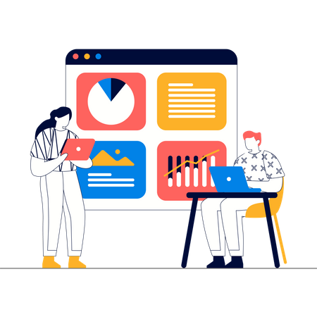 Business analysis Illustration