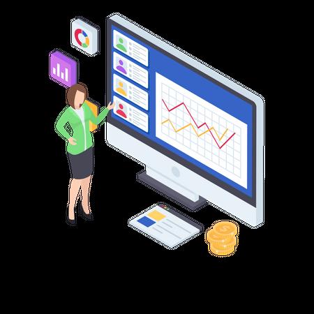 Business analyst Illustration