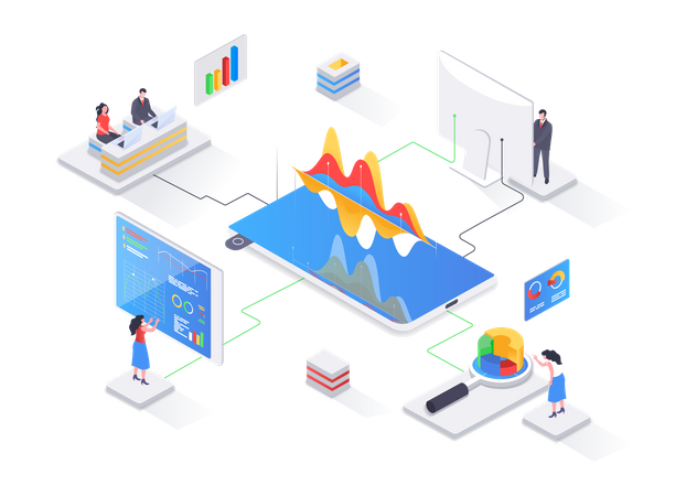 Business Analytics and business intelligence Illustration