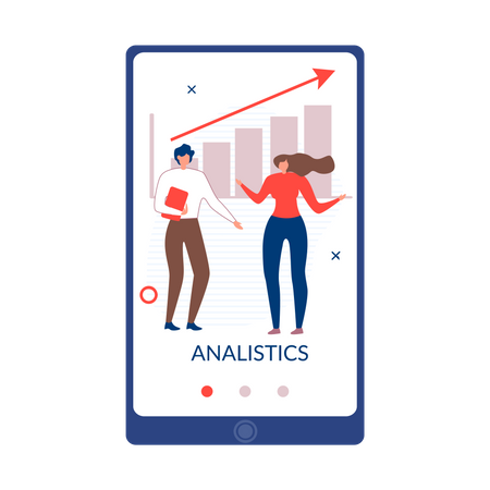 Business analytics using online tool Illustration