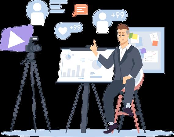 Business and entrepreneurship blog Illustration