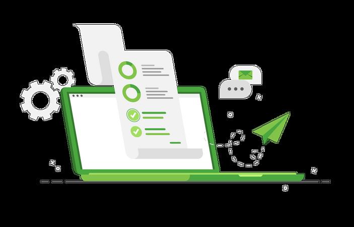 Business audit Illustration