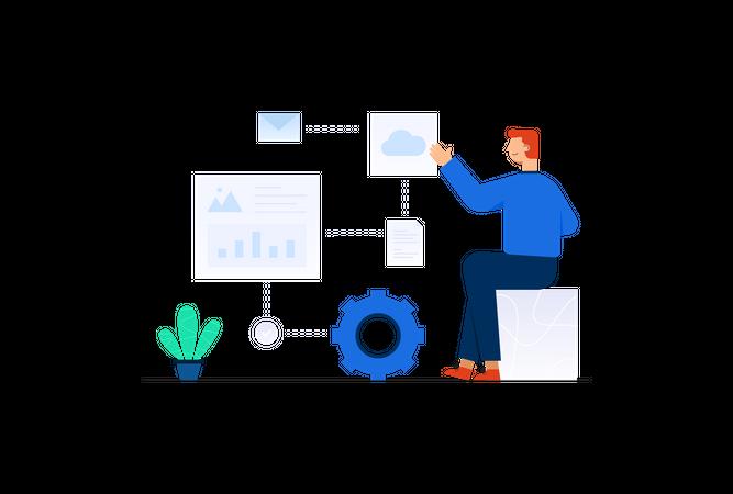Business Automation Illustration
