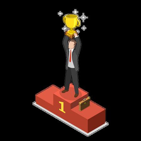 Business award Illustration