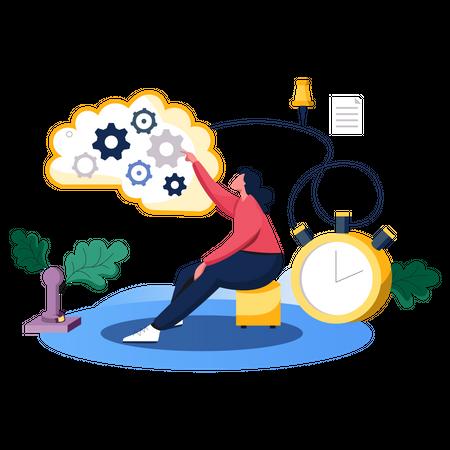 Business Brainstorming Illustration