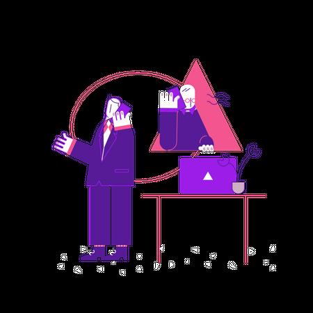 Business Call Illustration
