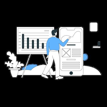 Business chart Illustration