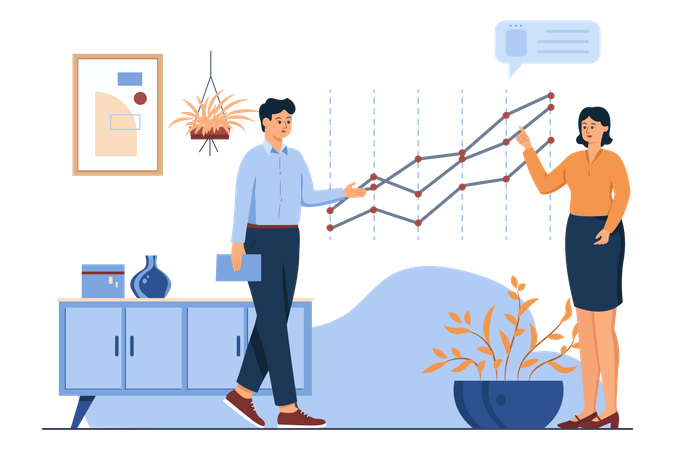 Business Chart Analysis Illustration