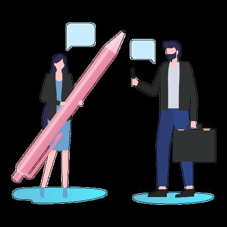 Business chat Illustration