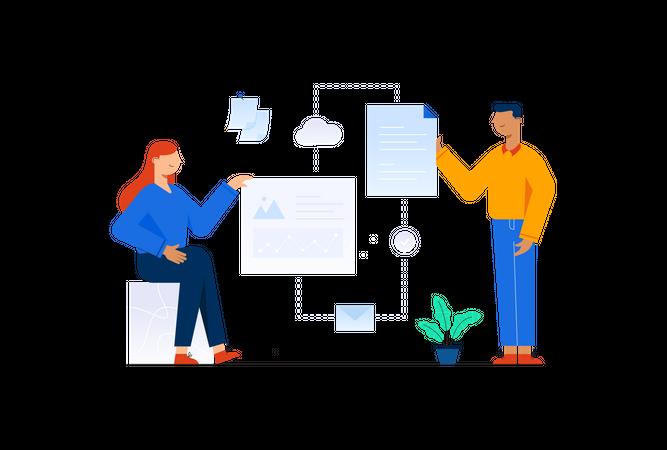 Business collaboration Illustration