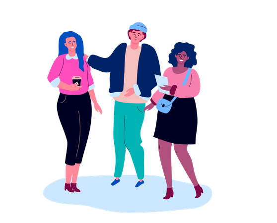 Business colleagues Illustration
