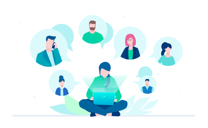Business Communication Illustration
