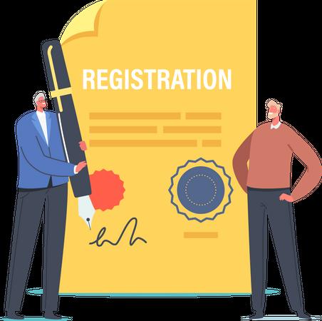 Business Company Registration Illustration