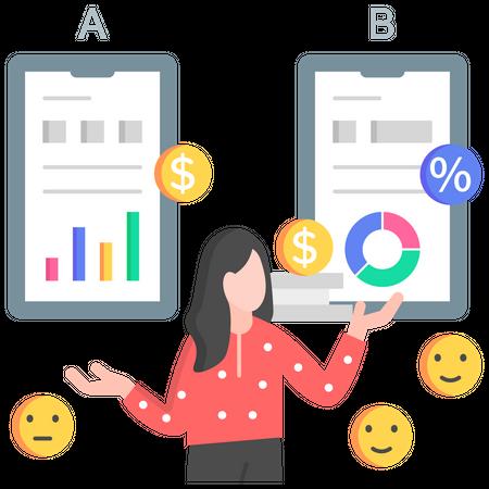 Business comparison Illustration