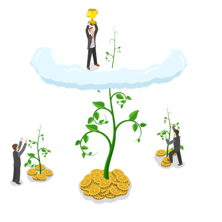 Business competition Illustration