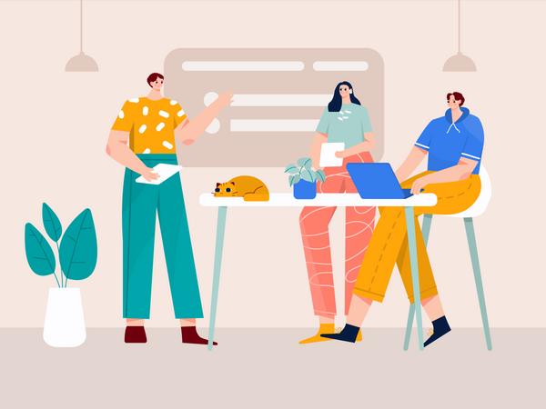 Business conference Illustration