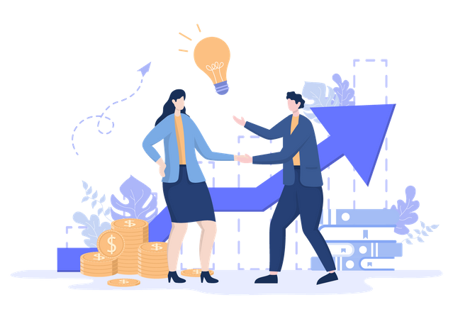Business Contract Illustration
