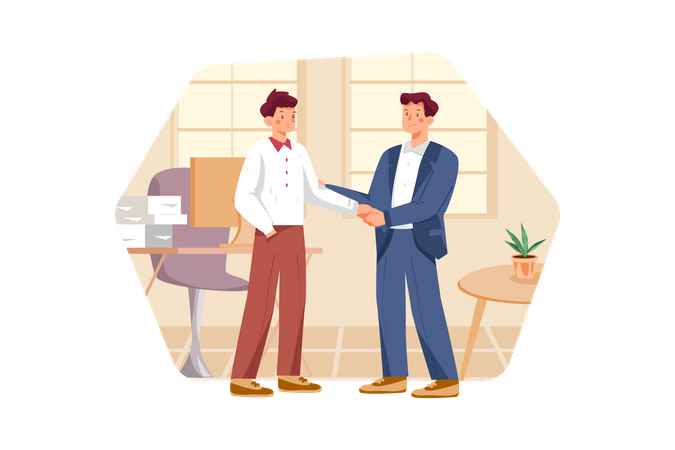 Business conversation at the meeting Illustration