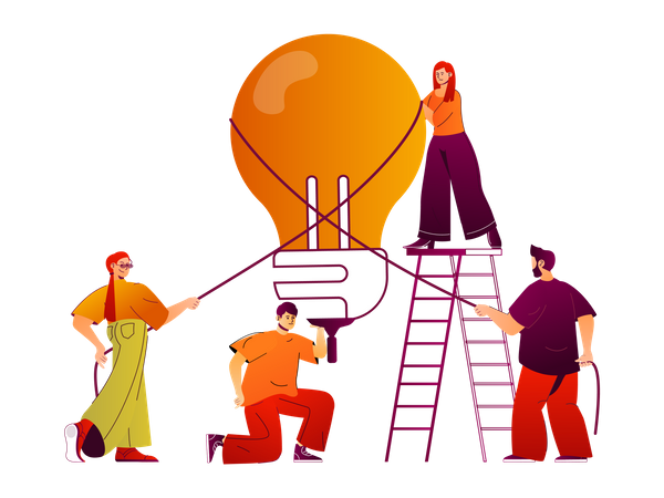 Business creativity Illustration