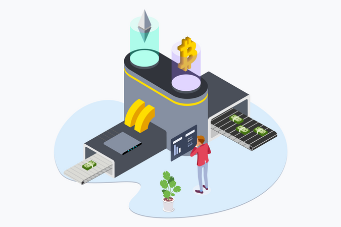 Business Cryptocurrency Illustration