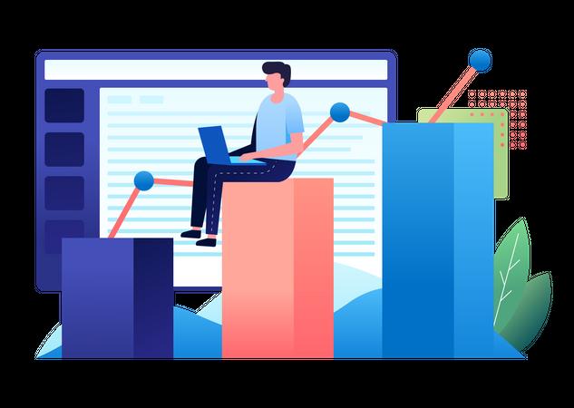 Business Data Illustration