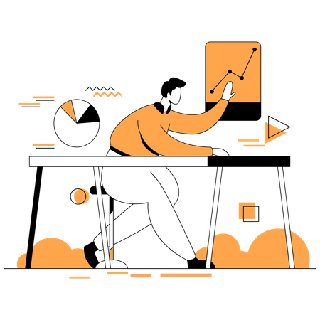 Business data analysis Illustration