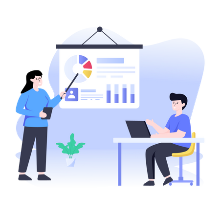 Business data presentation Illustration