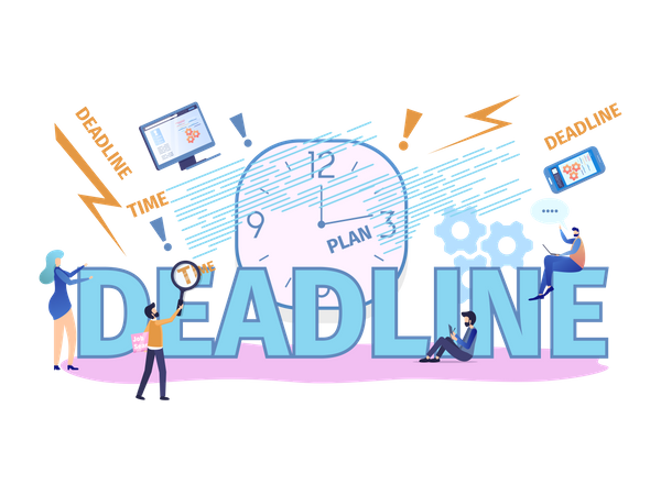 Business Deadline Illustration