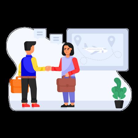 Business deal Illustration
