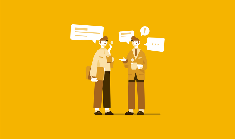 Business discussion Illustration