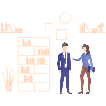 Business discussion by employers Illustration