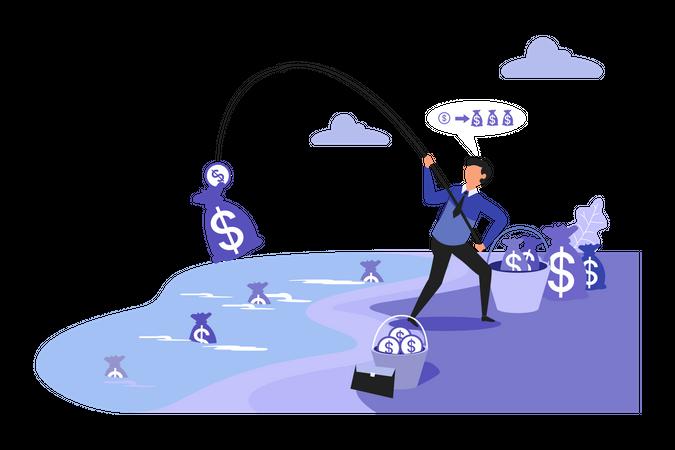 Business Finance Planning Illustration