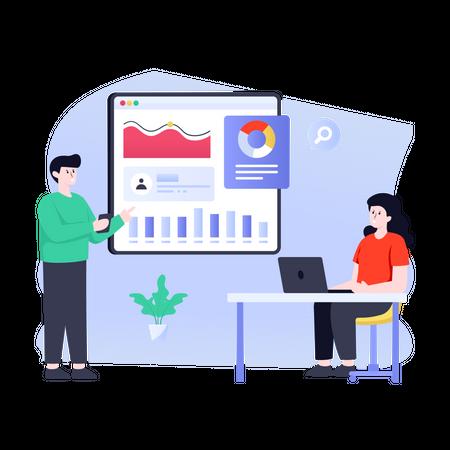 Business financial consultation Illustration