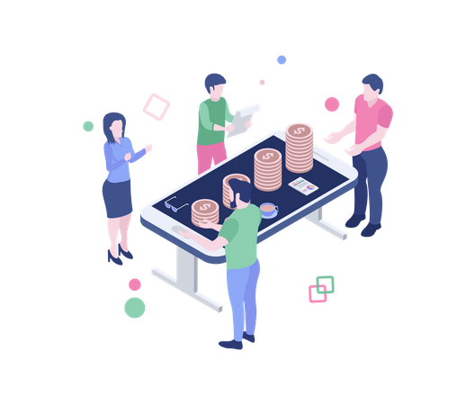 Business financial meeting Illustration