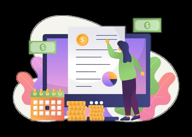 Business financial planning Illustration