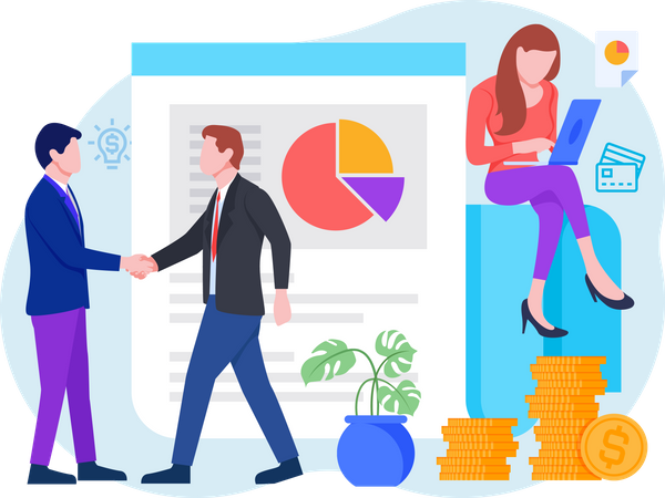 Business Financial Year Illustration