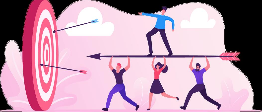 Business Goals Achievement Illustration