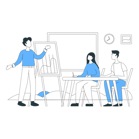 Business group meeting Illustration