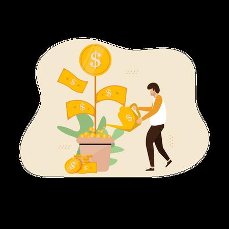 Business growth Illustration