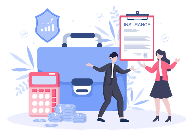 Business insurance policy Illustration